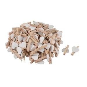 ソウテン ミニ木製のクリップ 金属 木製 100個入れ