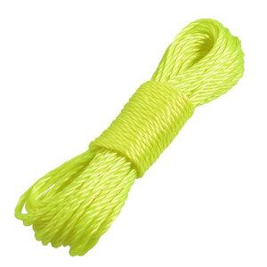 ソウテン 物干しロープ 衣類ロープ ナイロン製 イエローグリーン ハンキングコード ホーム室外用 9.4m長さ