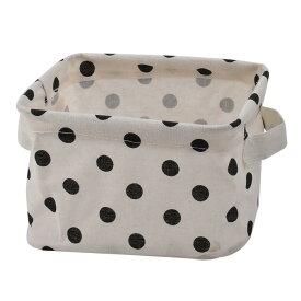 ソウテン 収納ボックス 小物入れ 化粧品 雑貨収納箱 バスケット クロゼット 家庭用 デスクトップ ファブリックドット パターン