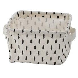 ソウテン 収納ボックス 小物入れ 化粧品 雑貨収納箱 バスケット クロゼット 家庭用 デスクトップ ファブリック 木のパターン