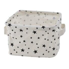 ソウテン 収納ボックス 小物入れ 家化粧品 雑貨 収納箱 バスケット クロゼット 庭用 デスクトップ ファブリック 星のパターン
