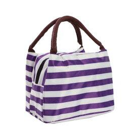 ソウテン uxcell ランチバッグ 保温ランチバッグ 暖かい クーラー 新鮮な 旅行 フードボックス トート バッグ パープル+ホワイト