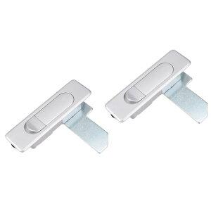 ソウテン キャビネットロック パネルカムロック ドアロック ポップアップタイプ 押すボタン 鍵ない 2個入