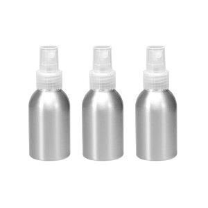 ソウテン アルミスプレーボトル クリアファインミストスプレー付き 空の詰め替え式コンテナ トラベルボトル 1.7oz/50ml 3個入り