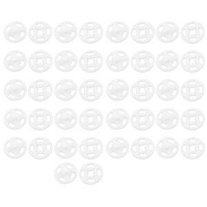 ソウテン プレススタッドボタン 家庭用 プラスチック製 縫製ファスナープレススタッドボタン ホワイト 12mm 42個入り