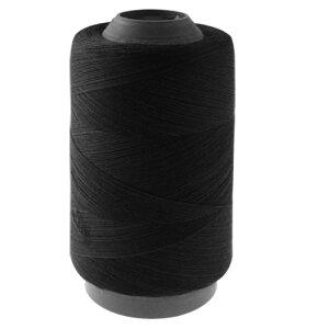 ソウテン 裁縫用糸リード 手縫い糸 ミシン糸 糸巻き ブラック コットン リッドライン 500m 手芸用