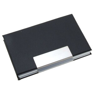 ソウテン カードホルダー 名刺ホルダー IDカードホルダー 名刺ファイル アルミニウム 金属 耐久性 合成皮革 フェイクレザー