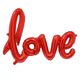 ソウテン バルーン 家庭 ホイル 愛の形膨張 風船 結婚式 パーティー お祝い レッド 76cm