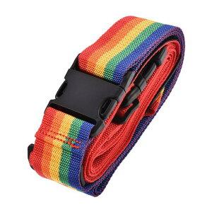 ソウテン 荷物ストラップ スーツケースベルト 4Mx5 cm 2つのバックル付き クロスアジャスタブル PPトラベルパッキングアクセサリー マルチカラー(レッド オレンジ イエロー グリーン ブルー