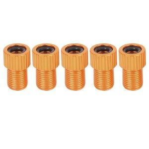 ソウテン バイクバルブコンバーター シュレー ダー-プレスタ チューブポンプ エアコンプレッサーツール オレンジ 5個入り