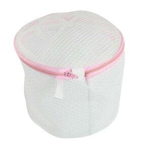 ソウテン 洗濯ネット 円筒型 洗浄用袋 ナイロン ピンク ホワイト ジッパー メッシュ 下着 防護物バッグ