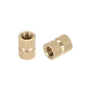 ソウテン ローレットナット インサートナット 真鍮材料 M5x10mmx7mm 防錆性 熱伝導性 100個入り