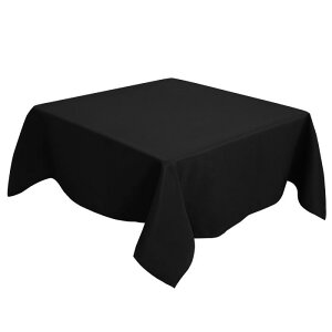 ソウテン PiccoCasa 正方形 テーブルクロス 汚れに強い しわになりにくい 結婚式 ピクニック用 ダイニング テーブルカバー 屋内 屋外 テーブル 140*140cm ブラック