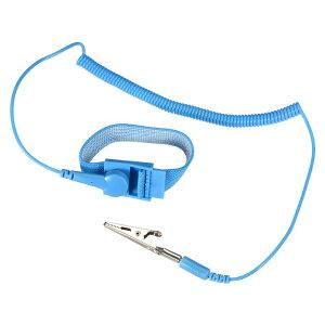 ソウテン 静電気防止用リストストラップ リストバンド 磁気トレイ 接地ワイヤ ワニクリップ 2個入り