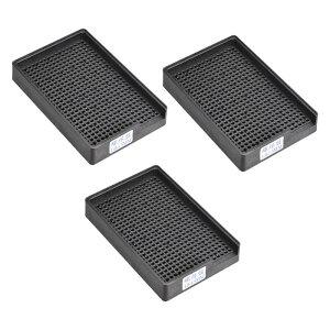 ソウテン スクリュートレイ ネジ収納トレイホルダー 帯電防止ネジプレート ESD 1-1.5mm直径ねじに適用 459穴 3個入り