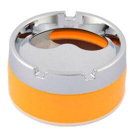 ソウテン uxcell 灰皿 アッシュ カップアッシュ プラスチック メタル 8.5 x 5cm イエロー