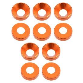 ソウテン uxcell フラットワッシャー 12mm x 5mm x 3mm ステンレススチール オレンジ スクリューボルト用 10個入り