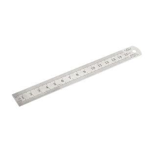ソウテン 直定規 ストレートルーラー 17cm x 2cm メタル デュアルサイド 測定