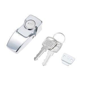 ソウテン キャビネットロック 押しボタンロック メールボックスロック 64.5mmロング DKS604