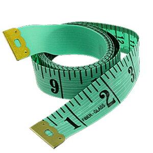 ソウテン ソフトテープメジャー 縫製テーラー 定規 150cm/60 inch 緑とブラック プラスチック 携帯型
