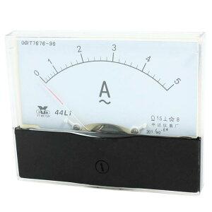 ソウテン アンペアアナログ 電流パネルメータ 電流試験 電流計 アンメーター ゲージ ホワイト AC 0-5A 1.5クラス