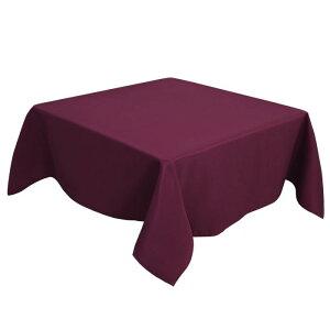 ソウテン PiccoCasa 正方形 テーブルクロス 汚れに強い しわになりにくい 結婚式 ピクニック用 ダイニング テーブルカバー 屋内 屋外 テーブル 140*140cm ブルゴーニュ