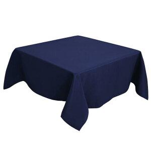 ソウテン PiccoCasa 正方形 テーブルクロス 汚れに強い しわになりにくい 結婚式 ピクニック用 ダイニング テーブルカバー 屋内 屋外 テーブル 140*140cm 紺