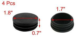 uxcell送料無料椅子脚カバー椅子足キャップイス足キャップ椅子の足キズ防止騒音防止丸パイプキャップ丸内栓平頭タイプブラックプラスチック直径45mm4個セット