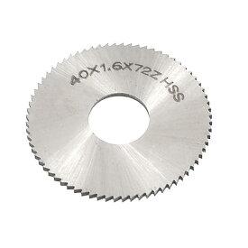 ソウテン uxcell チップソー スリッティングソウ ソウブレードフライスカッター ペグトゥースのタイプ 40mmの切断直径 1.6mmの厚さ 72歯