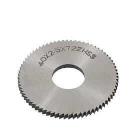 ソウテン uxcell チップソー 72Tスリッティングソウ 40mm x 2.5mm x 13mm HSS 鋸歯状 ペグトゥースタイプ