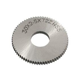 ソウテン uxcell スリッターソー HSS 30mm切削直径 2.5mm厚さ 72T シルバートーン