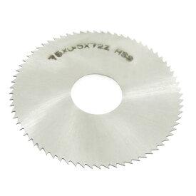 ソウテン uxcell スリッターソー 75mm x 22mm x 0.5mm 72ペグの歯 HSS 手工具