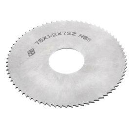 ソウテン uxcell スリッターソー 75mm x 1.2mm x 22mm 72T シルバートーン 切削工具