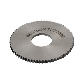 ソウテン uxcell チップソー スリットソー シルバートーン HSS素材 72T 40mm の外径 2mmの厚さ