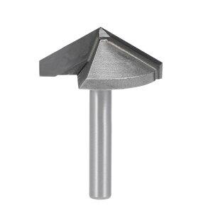 ソウテン V-グルーヴルータービット ルーター ビット 6mm シャンク 32mm 直径. 120 度 V-グルーヴ エンド ミル タングステン鋼 CNC