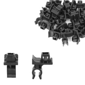 ソウテン フードプロップロッドクリップ フードサポートクランプ リテーナー 22.6x29.5 mm プラスチック ブラック 20個入り