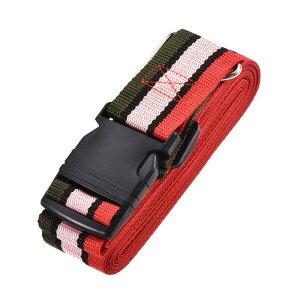 ソウテン 荷物ストラップ スーツケースベルト 4Mx5 cm バックル付き クロスアジャスタブル PPトラベルパッキングアクセサリー マルチカラー(レッド ピンク ダークグリーン)