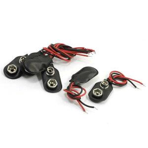 ソウテン 電池コネクタ 電池ホルダー バッテリーコネクタ クリップ バックル 11cmダブルケーブルコネクタ 9Vバッテリー 6個入り