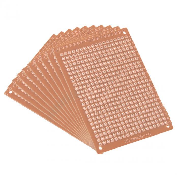 uxcell 回路基板 DIYはんだ付け用 5x7cm片面ユニバーサルペーパープリント 10個入り