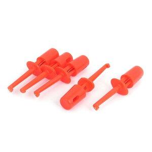 ソウテン テストクリップ 電気テストフック 電線 クリップ プローブ プラスチックシールド レッド 5個入り