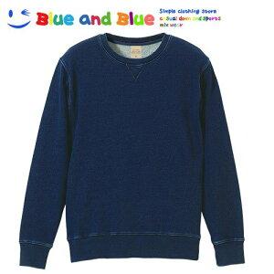BLUE AND BLUE ブルーアンドブルー ユニセックス(メンズ・レディース) デニムスウェット クルーネック 長袖