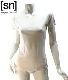 【sn】super.natural スーパーナチュラル レディース W BASE TEE 140 / 半袖Tシャツ SN1172-045