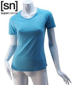 【sn】super.natural スーパーナチュラル レディース W BASE TEE 140 / 半袖Tシャツ SN1172-203