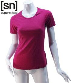 【sn】super.natural スーパーナチュラル レディース W BASE TEE 140 / 半袖Tシャツ SN1172-207