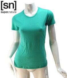 【sn】super.natural スーパーナチュラル レディース W BASE TEE 140 / 半袖Tシャツ SN1172-286