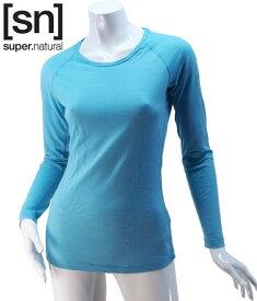 【sn】super.natural スーパーナチュラル レディース W BASE LS 140 / 長袖Tシャツ SN1173-203