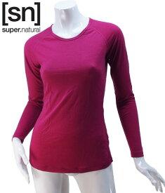 【sn】super.natural スーパーナチュラル レディース W BASE LS 140 / 長袖Tシャツ SN1173-207