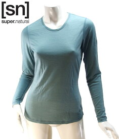 【sn】super.natural スーパーナチュラル レディース W BASE LS 140 / 長袖Tシャツ SN1173-284