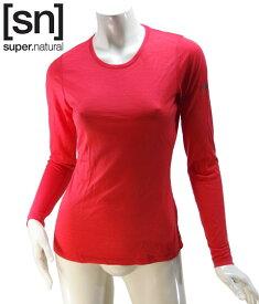 【sn】super.natural スーパーナチュラル レディース W BASE LS 140 / 長袖Tシャツ SN1173-293