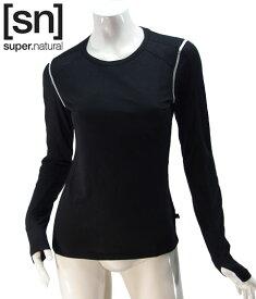 【sn】super.natural スーパーナチュラル レディース W NERGY TOP LS 140 / 長袖Tシャツ W003020-120